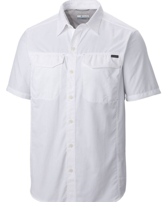 Men's Columbia White Fishing Shirt