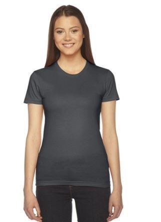 Women's  GRAY Short Sleeve Crew Neck T-shirt