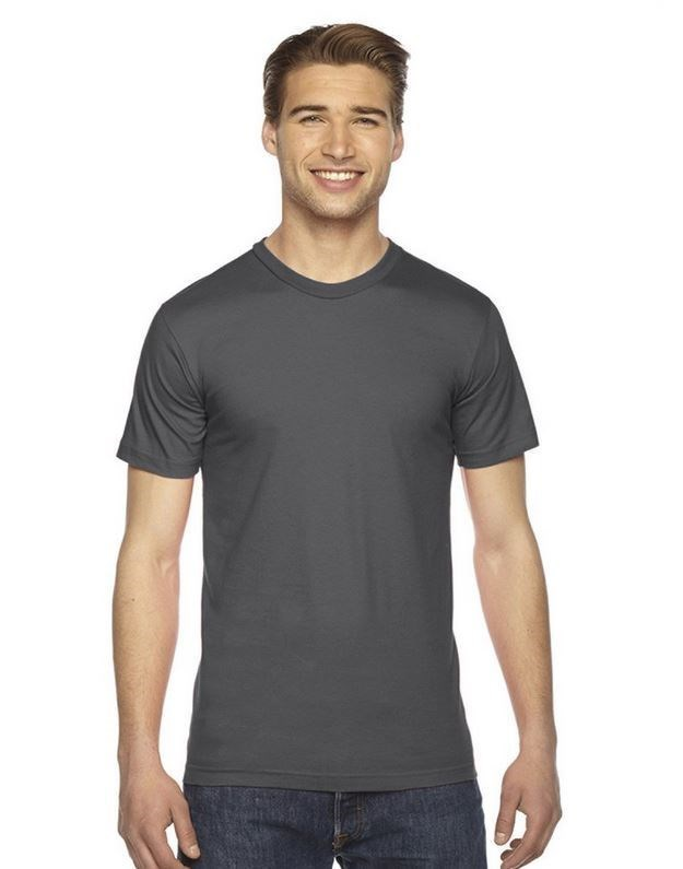 Men's/ Unisex Crew Neck T-shirt Charcoal